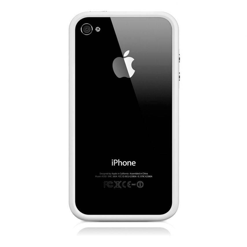 Carcasa Bumper HQ Blanco para iPhone 4S / 4