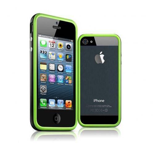 Coque Bumper iPhone 5 / 5S / SE HQ Vert / Noir