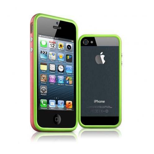 Carcasa Bumper iPhone 5 & 5S HQ Verde/ Rosa