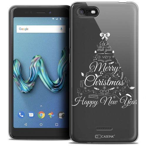 "Carcasa Crystal Gel Extra Fina Wiko Tommy 3 (5.45"") Noël 2017 Calligraphie"