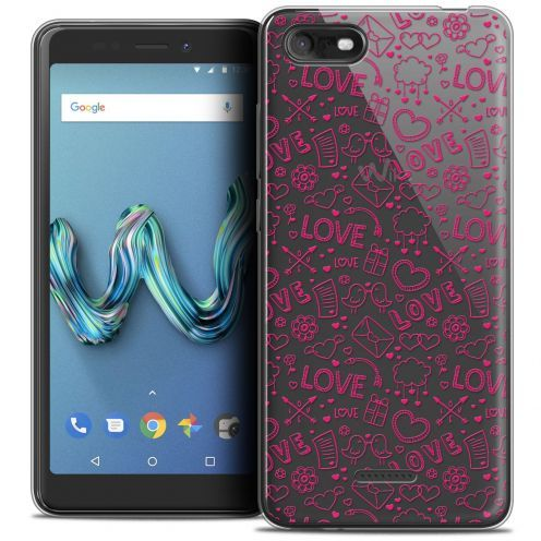 "Carcasa Crystal Gel Extra Fina Wiko Tommy 3 (5.45"") Love Doodle"