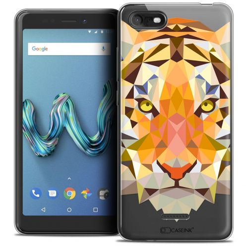"Carcasa Crystal Gel Extra Fina Wiko Tommy 3 (5.45"") Polygon Animals Tigre"