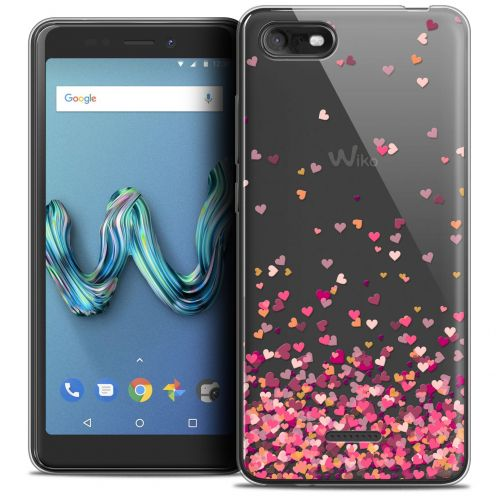 """Carcasa Crystal Gel Extra Fina Wiko Tommy 3 (5.45"""") Sweetie Heart Flakes"""