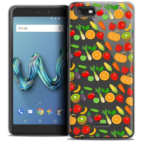 """Carcasa Crystal Gel Extra Fina Wiko Tommy 3 (5.45"""") Foodie Healthy"""