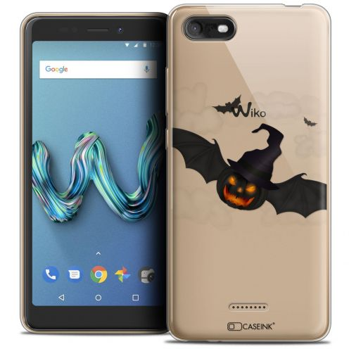 "Carcasa Crystal Gel Extra Fina Wiko Tommy 3 (5.45"") Halloween Chauve Citrouille"