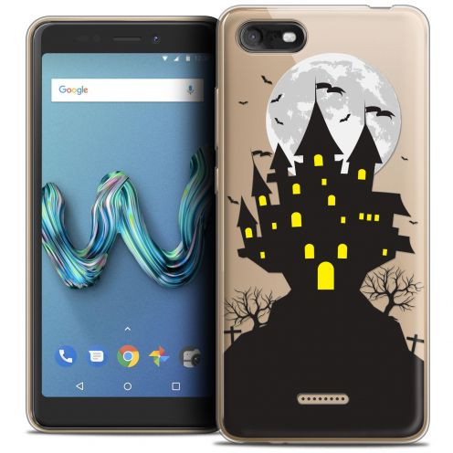 "Carcasa Crystal Gel Extra Fina Wiko Tommy 3 (5.45"") Halloween Castle Scream"
