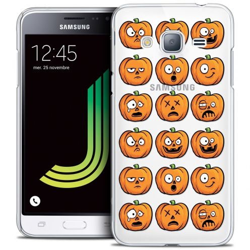 Coque Crystal Samsung Galaxy J3 2016 (J320) Extra Fine Halloween - Cartoon Citrouille