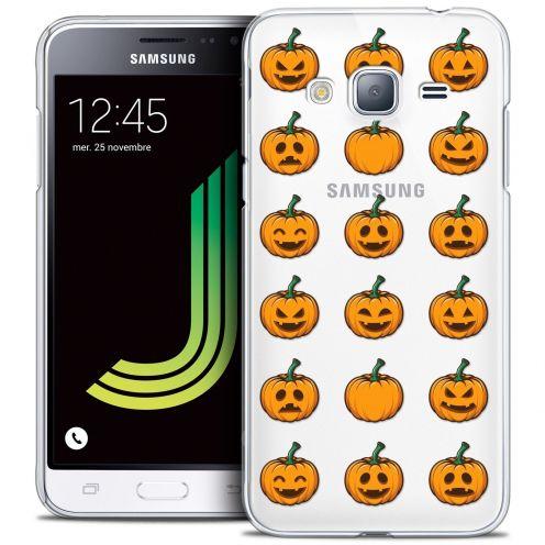 Coque Crystal Samsung Galaxy J3 2016 (J320) Extra Fine Halloween - Smiley Citrouille