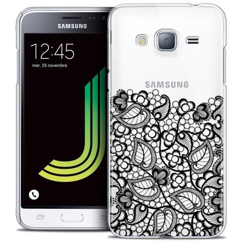 Coque Crystal Samsung Galaxy J3 2016 (J320) Extra Fine Spring - Bas dentelle Noir