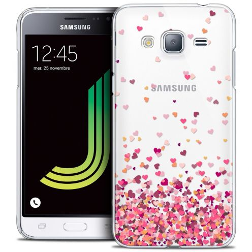 Coque Crystal Samsung Galaxy J3 2016 (J320) Extra Fine Sweetie - Heart Flakes