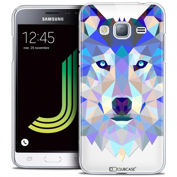 45fdc46a429 Carcasa Crystal Extra Fina Samsung Galaxy J3 2016 (J320) Polygon Animals  Lobo