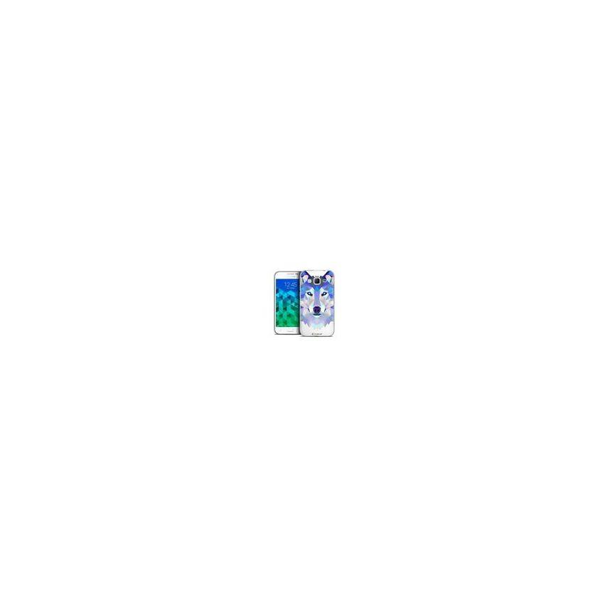 Coque Crystal Samsung Galaxy Core Prime (G360) Extra Fine Polygon Animals - Loup