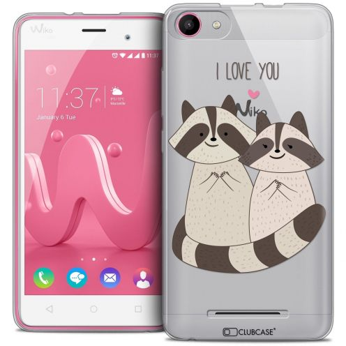 Coque Crystal Gel Wiko Jerry Extra Fine Sweetie - Racoon Love