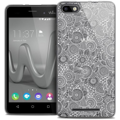 Coque Crystal Gel Wiko Lenny 3 Extra Fine Dentelle Florale - Blanc