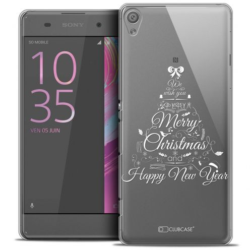 "Coque Crystal Sony Xperia XA 5"" Extra Fine Noël 2016 - Calligraphie"