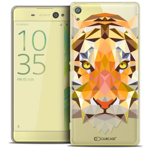 "Coque Crystal Xperia XA Ultra 6"" Extra Fine Polygon Animals - Tigre"