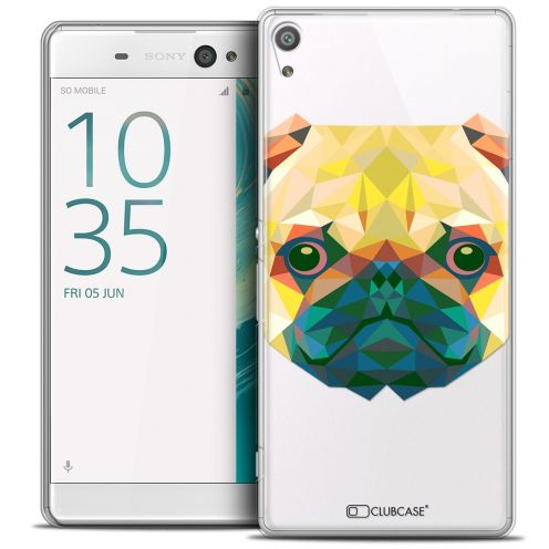 "Coque Crystal Xperia XA Ultra 6"" Extra Fine Polygon Animals - Chien"