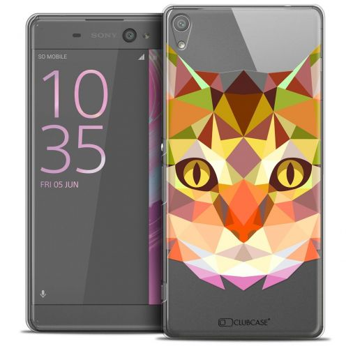 """Coque Crystal Xperia XA Ultra 6"""" Extra Fine Polygon Animals - Chat"""