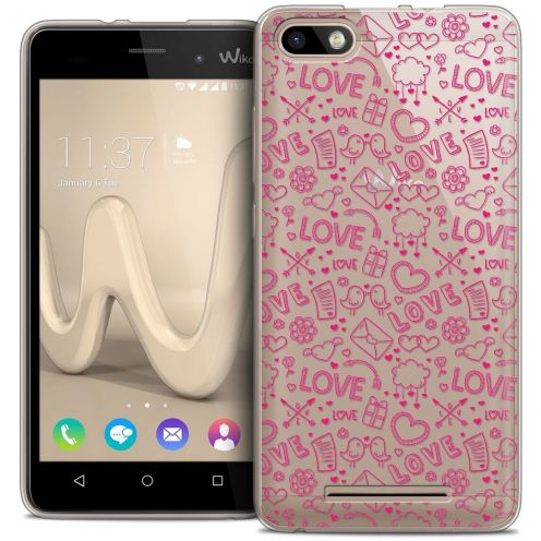 Coque Crystal Gel Wiko Lenny 3 Extra Fine Love - Doodle