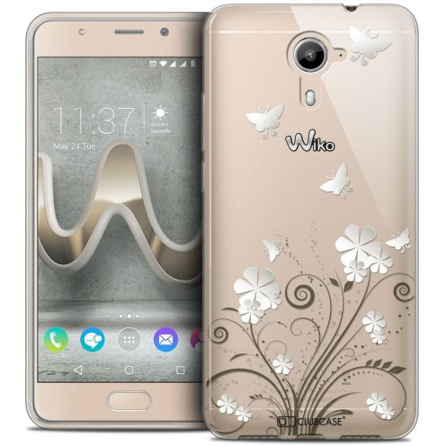 Coque Crystal Gel Wiko U Feel PRIME Extra Fine Summer - Papillons