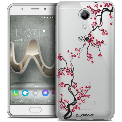 Coque Crystal Gel Wiko U Feel PRIME Extra Fine Summer - Sakura