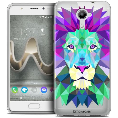 Coque Crystal Gel Wiko U Feel PRIME Extra Fine Polygon Animals - Lion