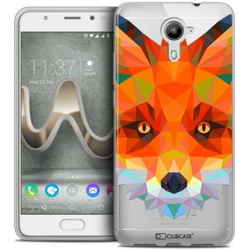 Coque Crystal Gel Wiko U Feel PRIME Extra Fine Polygon Animals - Renard