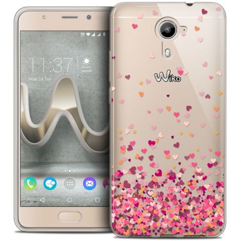 Coque Crystal Gel Wiko U Feel PRIME Extra Fine Sweetie - Heart Flakes