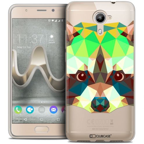Coque Crystal Gel Wiko U Feel PRIME Extra Fine Polygon Animals - Raton Laveur