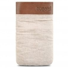Funda Bolsa Bugatti® Cuero Genuino Elements Talla M 73x125mm Safari Beige
