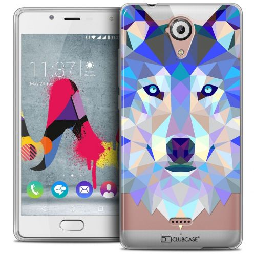Coque Crystal Gel Wiko U Feel LITE Extra Fine Polygon Animals - Loup