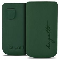 Funda Bolsa Bugatti® Cuero Genuino Perfect Velvety Cypress Talla M