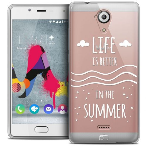 Coque Crystal Gel Wiko U Feel LITE Extra Fine Summer - Life's Better