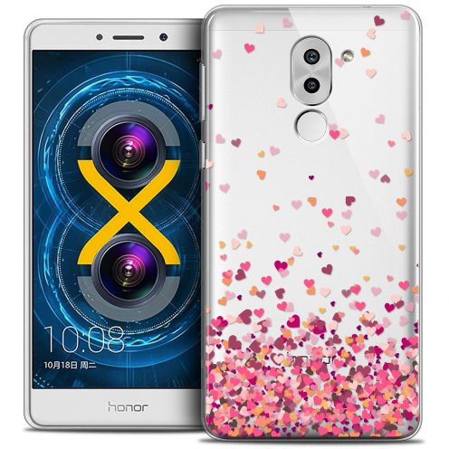 Coque Crystal Gel Huawei Honor 6X Extra Fine Sweetie - Heart Flakes