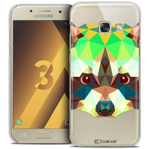 Coque Crystal Samsung Galaxy A3 2017 (A320) Extra Fine Polygon Animals - Raton Laveur