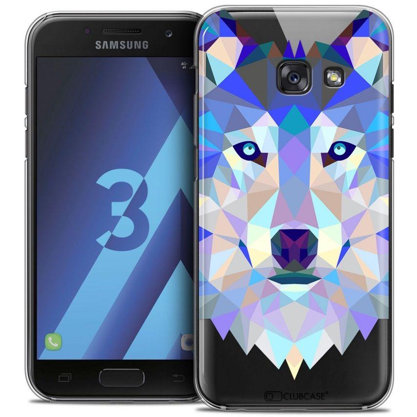 Coque Crystal Samsung Galaxy A3 2017 (A320) Extra Fine Polygon Animals - Loup