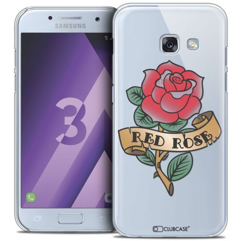 Coque Crystal Samsung Galaxy A3 2017 (A320) Extra Fine Tatoo Lover - Red Rose