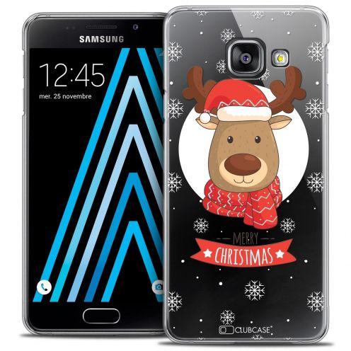 Coque Crystal Samsung Galaxy A3 2016 (A310) Extra Fine Noël 2016 - Cerf à Echarpe