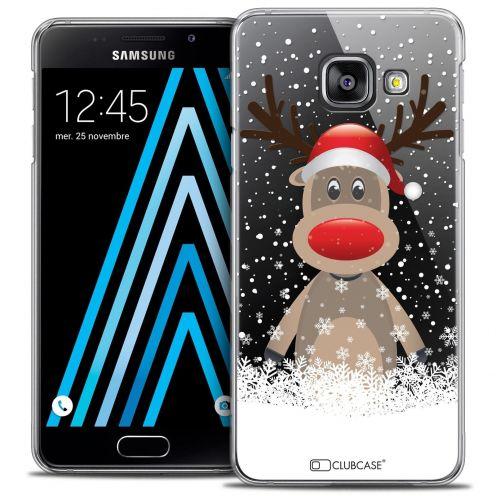Coque Crystal Samsung Galaxy A3 2016 (A310) Extra Fine Noël 2016 - Cerf au Bonnet