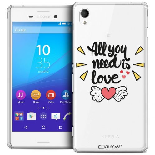 Carcasa Crystal Extra Fina Sony Xperia M4 Aqua Love All U Need Is
