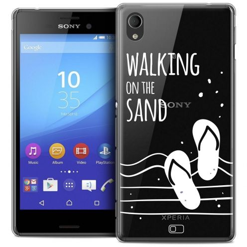 Coque Crystal Sony Xperia M4 Aqua Extra Fine Summer - Walking on the Sand