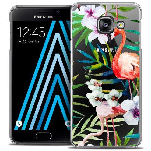 Coque Crystal Samsung Galaxy A3 2016 (A310) Extra Fine Watercolor - Tropical Flamingo
