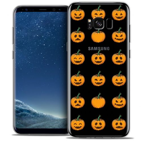 Carcasa Crystal Gel Extra Fina Samsung Galaxy S8 (G950) Halloween Smiley Citrouille