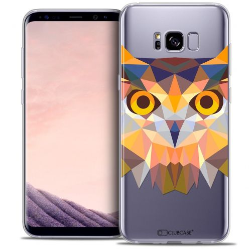 Coque Crystal Gel Samsung Galaxy S8 (G950) Extra Fine Polygon Animals - Hibou