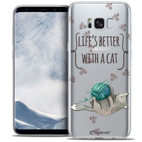 Carcasa Crystal Gel Extra Fina Samsung Galaxy S8 (G950) Quote Life's Better With a Cat