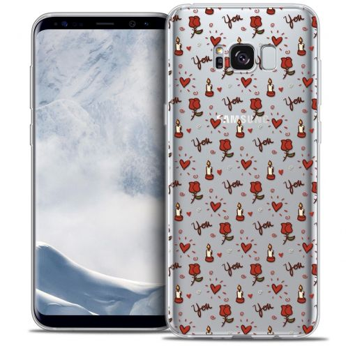 Carcasa Crystal Gel Extra Fina Samsung Galaxy S8 (G950) Love Bougies et Roses
