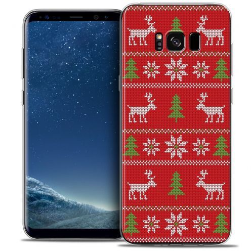 Coque Crystal Gel Samsung Galaxy S8 (G950) Extra Fine Noël 2016 - Couture Rouge