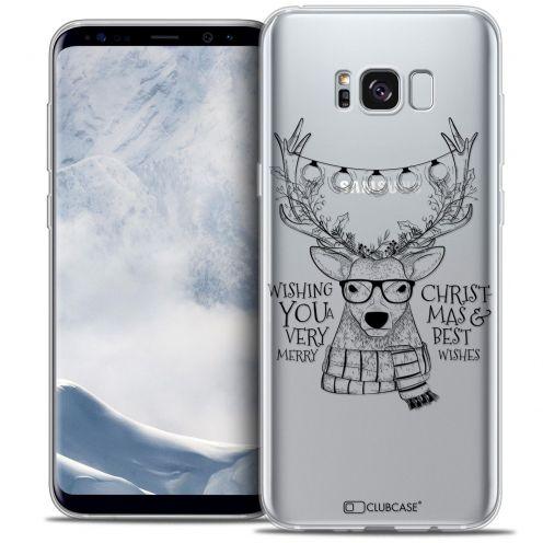 Coque Crystal Gel Samsung Galaxy S8 (G950) Extra Fine Noël 2016 - Cerf Hipster
