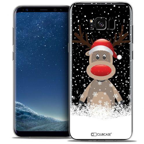 Coque Crystal Gel Samsung Galaxy S8 (G950) Extra Fine Noël 2016 - Cerf au Bonnet