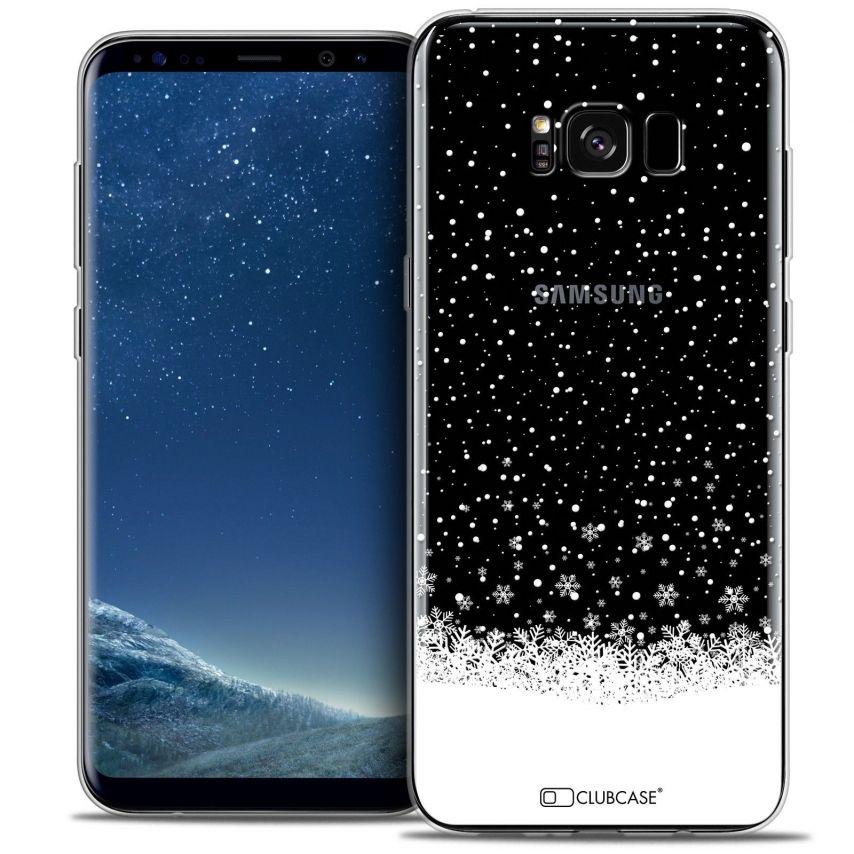 Coque Crystal Gel Samsung Galaxy S8 (G950) Extra Fine Noël 2016 - Flocons de Neige